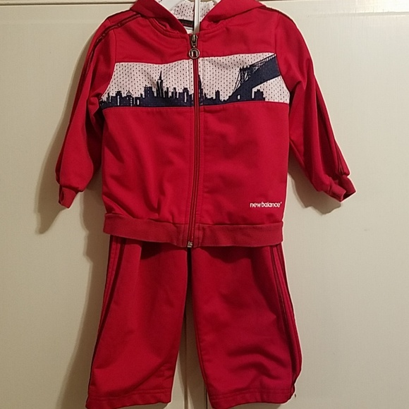 Track Pants 24 Sweat Red Jacket Months 2T Suit Ibyv76gYf
